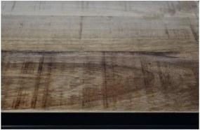 Bibliotecă din lemn de mango HSM collection Levels, 70 x 80 cm