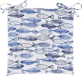 Pernă de scaun Fish matlasată, 40 x 40 cm,