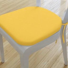 Goldea pernă pentru scaun rotundă decorativă 39x37cm - loneta - galben închis 39 x 37 cm