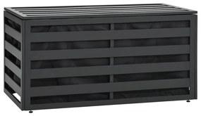 49247 vidaXL Ladă de depozitare grădină, antracit, 100x50x50 cm, aluminiu