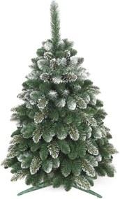 artificiale bradul de crăciun - aur cu zăpadă de pin 150 cm