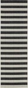 Covor tip traversa Axa, alb/negru 80 x 250 cm