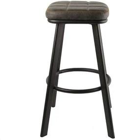 Scaun de bar Cooney, metal, gri, 69.5 x 42 x 42 cm