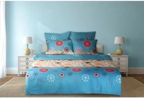 "Lenjerie dubla pentru pat, bumbac ""Sea Flower"", 6 piese, 200 x 220 cm  HR-6BED-144-02"