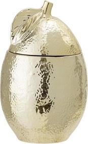 Bol decorative cu capac Gold, Ceramica, Ø10x16,5 cm