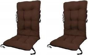 Set Perne pentru scaun de gradina sau sezlong, 48x48x75cm, culoare maro, 2 buc/set