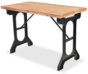 245462 vidaXL Masă de bucătărie, blat din lemn masiv de brad 122x65x82 cm
