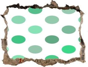 Autocolant autoadeziv gaură Puncte verzi
