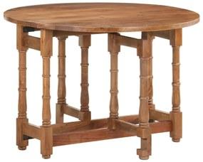 321701 vidaXL Masă de bucătărie, 110x76 cm, lemn masiv de mango, rotundă