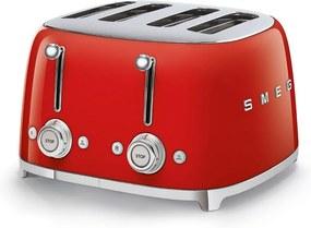 Toaster roșu 50's Retro Style P4 2000W - SMEG