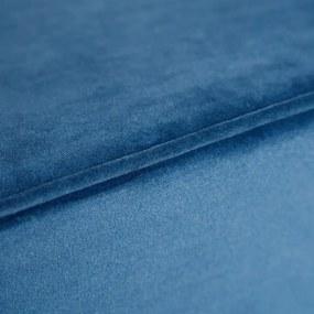 Puf Albastru din Catifea 41.5cm IXIA - Catifea Albastru Lungime (41.5cm) x Latime (41.5cm) x Inaltime (45.5cm)