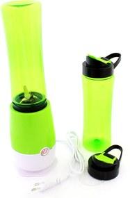 Blender electric, putere 100W, cu extra recipient, capacitate 500ml, culoare verde