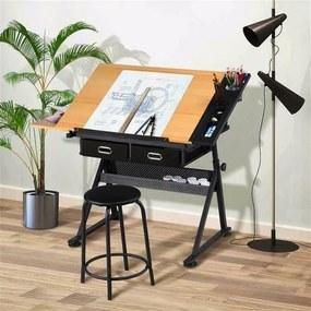 Masa pentru desen tehnic cu scaun cadou