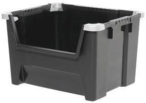 Cutie stivuibila din plastic 50x30x40 cm, Negru