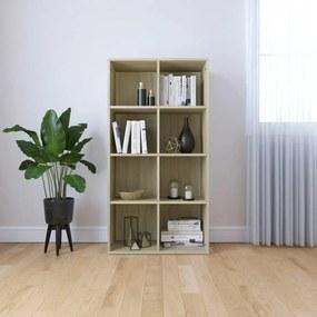 800156 vidaXL Bibliotecă/Servantă, stejar Sonoma, 66 x 30 x 130 cm, PAL
