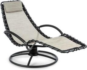 Blumfeldt The Chiller, scaun balansoar, 77 x 85 x 173 cm, 360 Comfort, ComfortMesh, bej