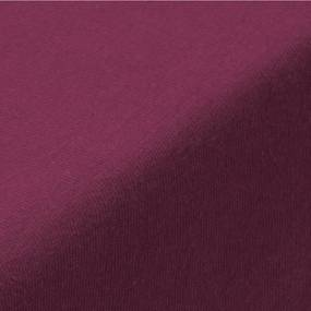 Cearșaf cu elastic jersey EXCLUSIVE de culoare bordo pat simplu