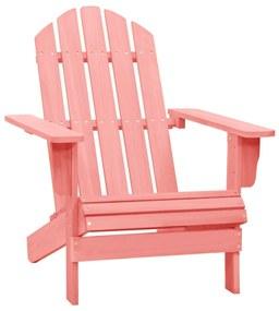 315877 vidaXL Scaun de grădină Adirondack, roz, lemn masiv de brad