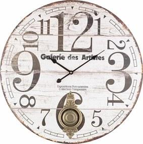 Ceas de perete cu pendul lemn model Galerie de Artistes 6 cm x ø 58 cm