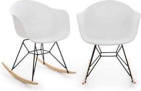 Blumfeldt Skandi, scaun balansoar, set de 2 bucăți, polipropilenă, alb