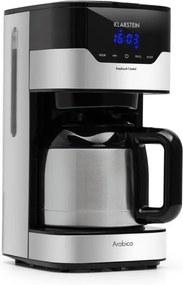 Klarstein Arabica 800W, aparat de cafea, EasyTouch Control, argintiu/negru