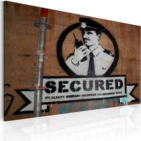 Tablou - Secured (Banksy) 60x40 cm