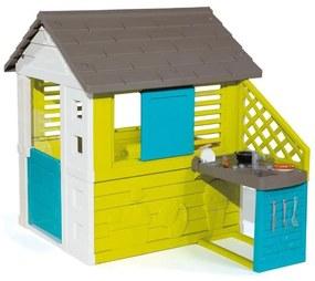Smoby - Casuta pentru copii Pretty cu bucatarie