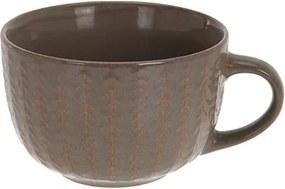 Cana Lines din ceramica maro 7 cm