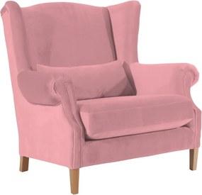 Fotoliu din catifea Max Winzer Harvey Velvet, roz