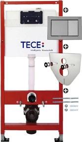 Set rezervor incastrat Tece TeceBase contine set fixare si clapeta TeceBase crom lucios