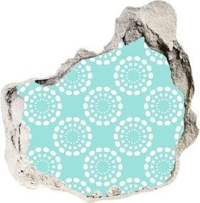 Autocolant de perete gaură 3D Fundal geometrică