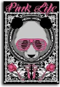 Tablou CARO - Pink Life Bear 30x40 cm
