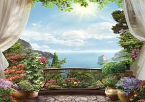 Fototapet - privie din balcon (254x184 cm), în 8 de alte dimensiuni noi