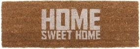 Preș PT LIVING Home Sweet Coir, 75 x 26 cm, alb maro