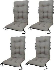 Set Perne pentru scaun de gradina sau sezlong, 48x48x75cm, culoare gri, 4 buc/set