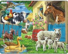 Puzzle Larsen Animale la fermă, 25 piese