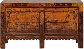 Comoda portocalie din pin 162 cm Sideboard Versmissen