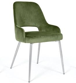 Scaun Clark catifea verde 57/58/87 cm 