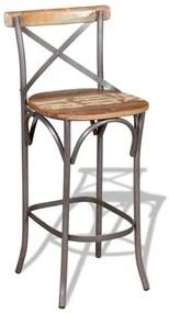 244014 vidaXL Scaun de bar, lemn masiv reciclat