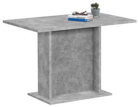 428697 FMD Masă de bucătărie, gri beton, 110 cm