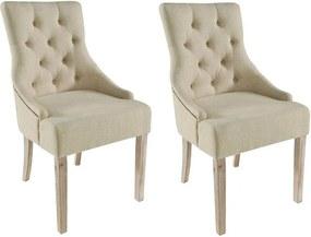 Set de 2 scaune tapitate Hermon, 97 x 52 x 64 cm