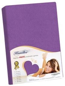 Cearşaf din bumbac fin Kamilka, violet închis, 140 x 200 cm, 140 x 200 cm