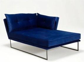 Șezlong Relax, cotieră pe partea dreaptă , albastru