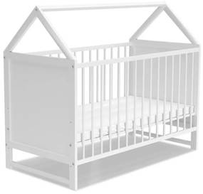 Expedo Pătuț pentru copii VIKTORKA + saltea, 60x120, alb
