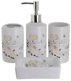 Set 4 piese pentru baie din ceramica Butterflies