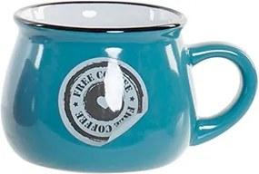 Cana Coffee din ceramica albastra 6 cm