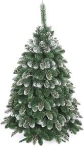 artificiale bradul de crăciun - aur cu zăpadă de pin 180 cm