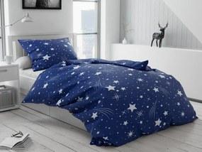 Lenjerie de pat creponată Cerul de noapte albastru închis
