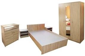 Dormitor Soft Sonoma cu pat 120x200 cm