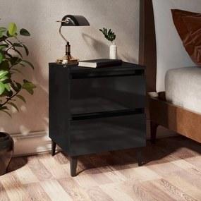 805883 vidaXL Noptieră, negru extralucios, 40x35x50 cm, PAL
